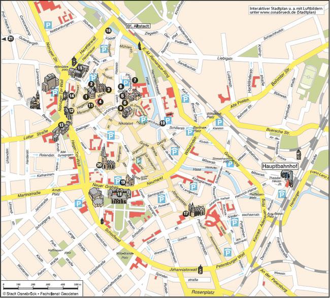 Bild: Stadtplan von Osnabrück