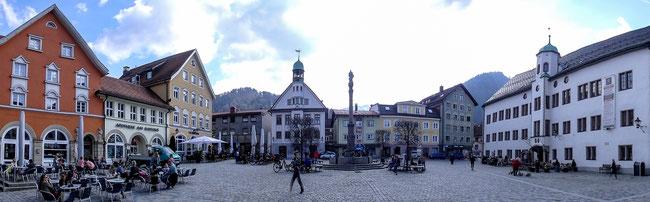 Bild: Marienplatz in der Altstadt von Immenstadt im Allgäu