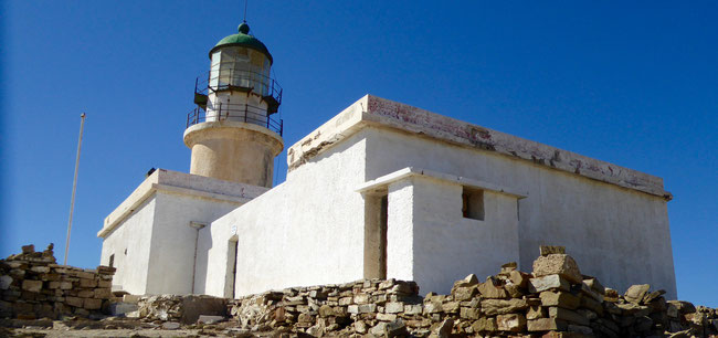 Bild: Der Leuchtturm auf der Insel Prasonisi auf Rhodos