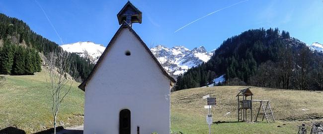 Bild: Kapelle von Einödsbach bei Oberstdorf