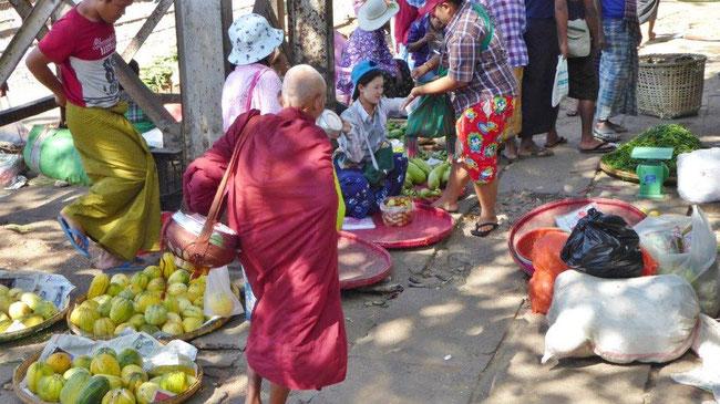 Bild: Straßenverkauf in Myanmar