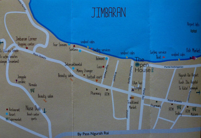 Bild: Karte von Jimbaran auf Bali
