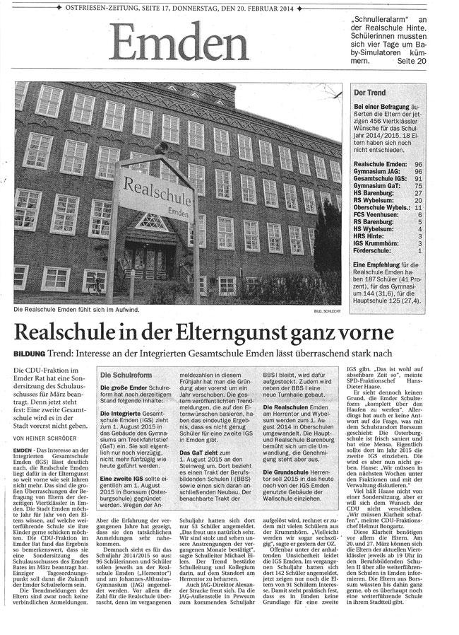 Emder Zeitung, 20.02.2014