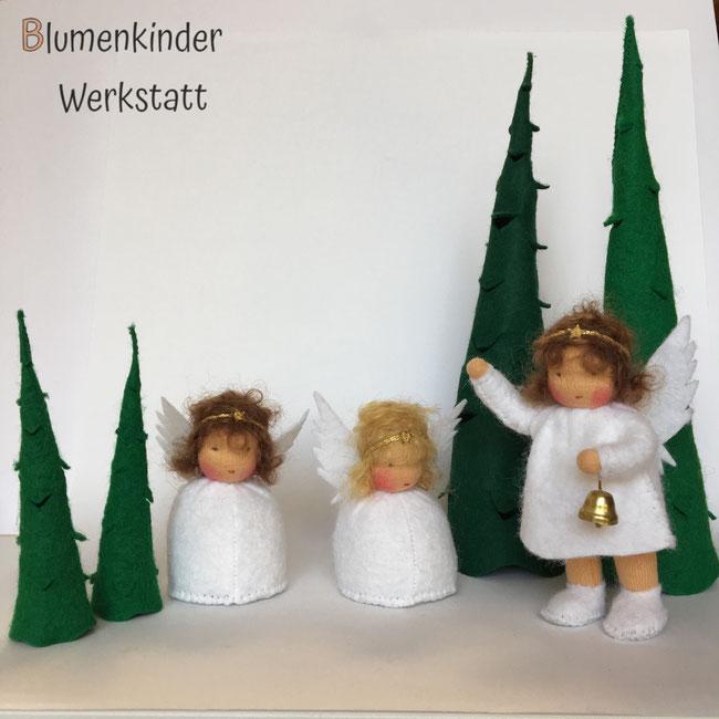 Blumenkinderwerkstatt Engelchen in Kegelform und mit Beinchen