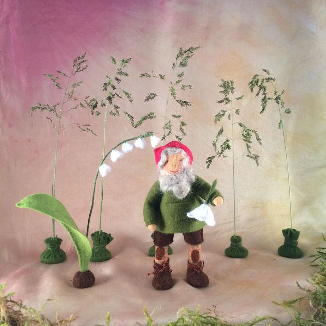 Blumenkinderwerkstatt Zwerg Joppe genäht nach Bildern von isipopisi.net