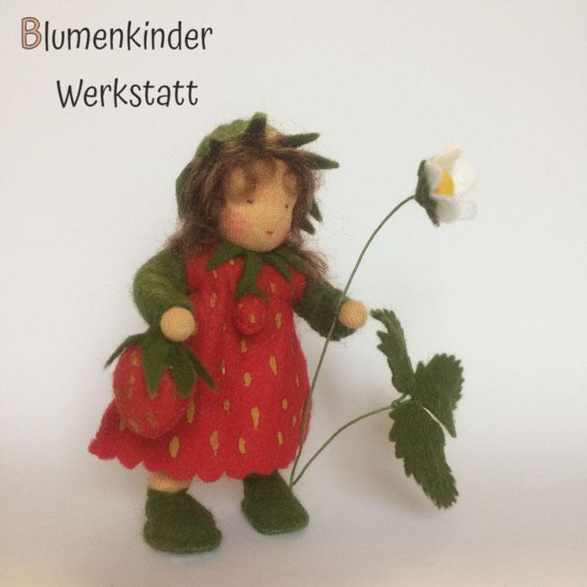 Blumenkinderwerkstatt Erdbeermädchen mit Beinchen