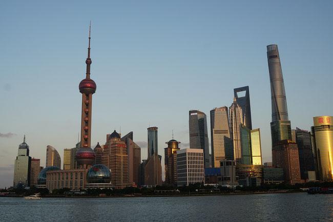 Shanghai vom Bund aus.