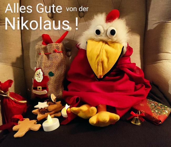 """""""Alles Gute von der Nikolaus!"""" wünscht Hilde von den Bocholter KuTIs."""