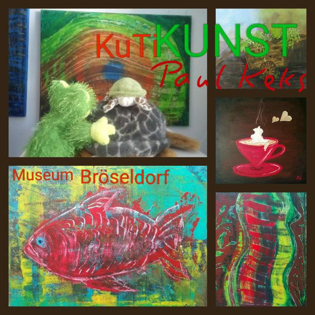 Die Bocholter KuTis bewundern Gemälde ihres Künstlers Paul Keks.