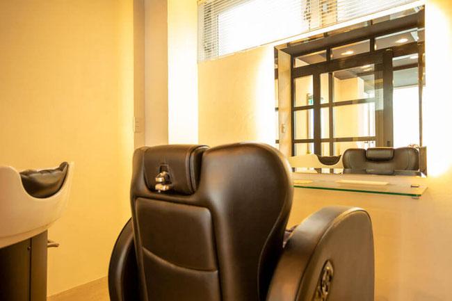 川崎市・武蔵小杉のヘッドスパ専門店のリラックスできる椅子