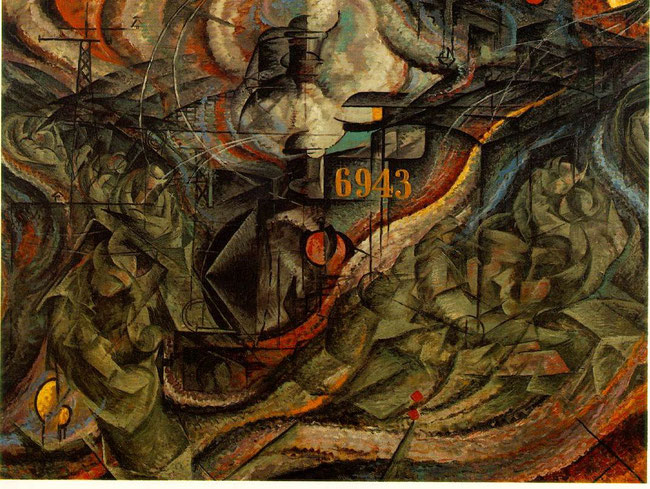 """Umberto Boccioni, """"Gli addii"""" (1911)"""