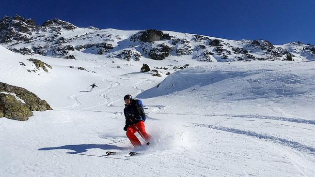 Ski hors piste à l'Alpe du Grand Serre