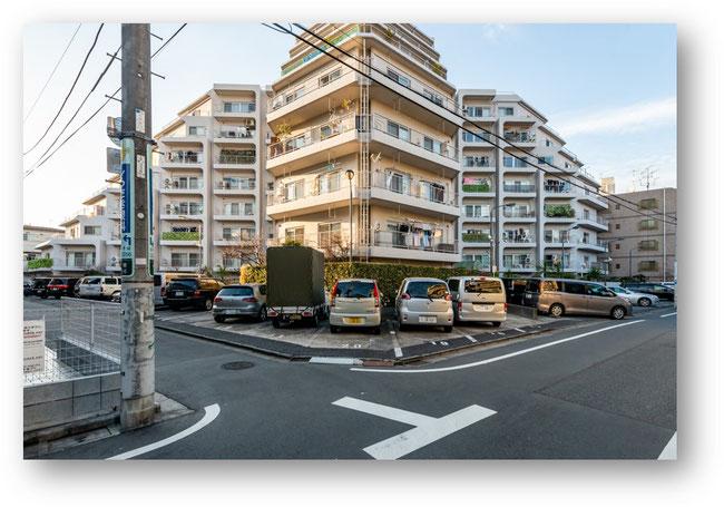2021年3月撮影戸山マンションの外観写真