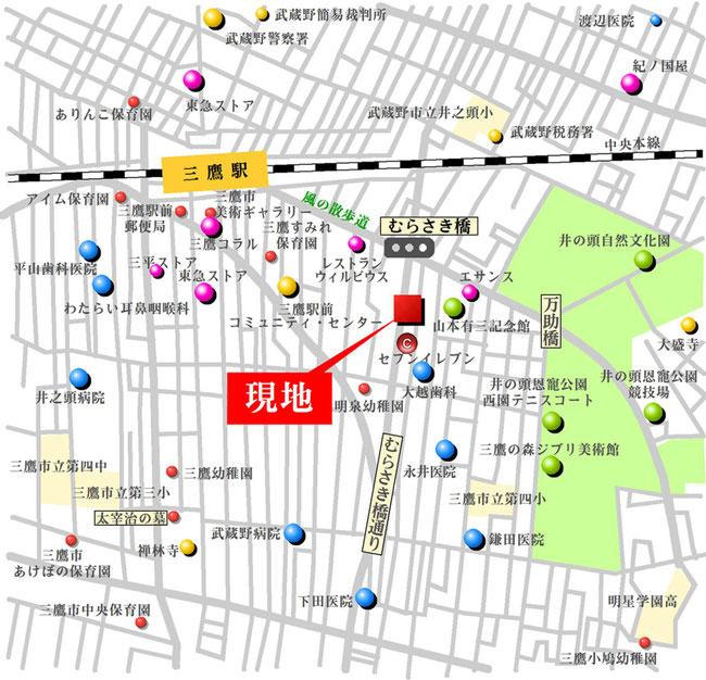パルゼパークサイド吉祥寺アクセスマップ
