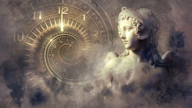 Symbole, Traum, Uhr, Spirale, Engel