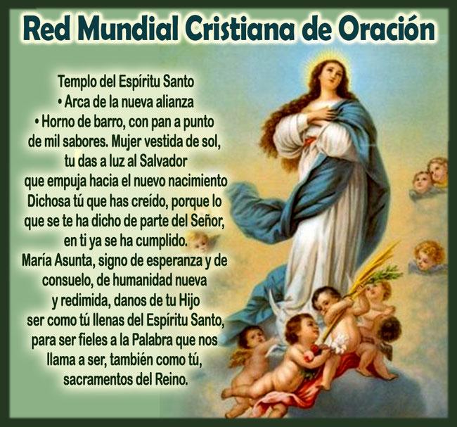Novena Asuncion Virgen Maria Red Mundial Cristiana De Oracion Rmco See more of feliz día de la mujer on facebook. novena asuncion virgen maria red