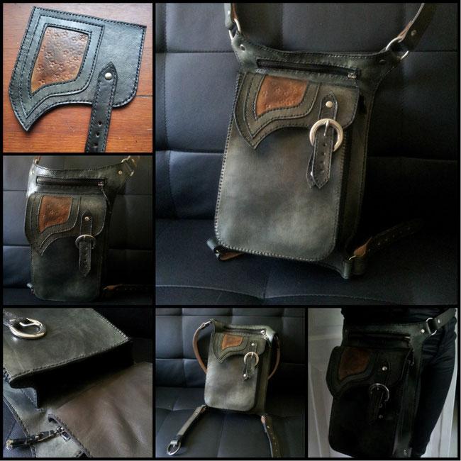sacoche cuir besace holster sac à main personnalisé