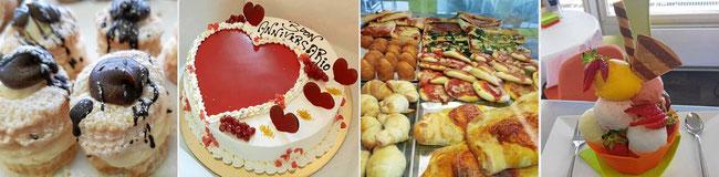 Mignon-Gebäck, Torten, Snacks / Mittagessen und hausgemachtes Gelato im Angolo Dolce Liestal