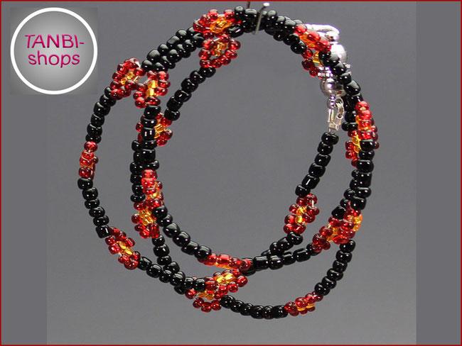 Kinderkette, Schwarz-Rot-Gold, Deutschland, WM, Blumen, 9.99