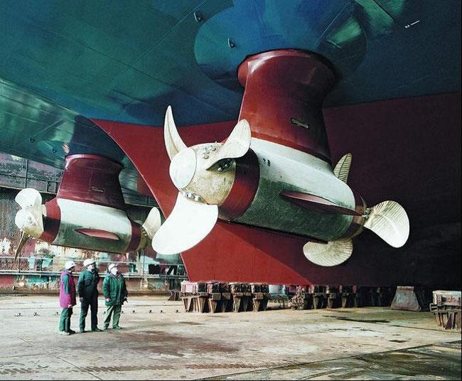 Bild 2: Pod, Kombination von E-Motor und Propeller (Foto: Schichau Seebeck Shipyard GmbH)