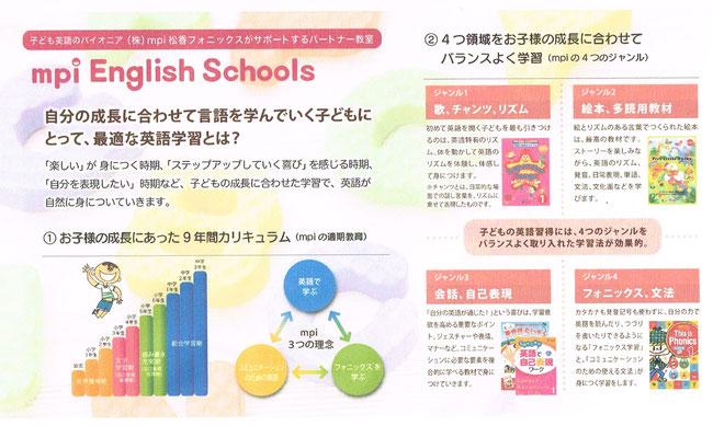 mpi English Schools 神戸六甲道 Buttercups 小学生 バランスよい英語学習