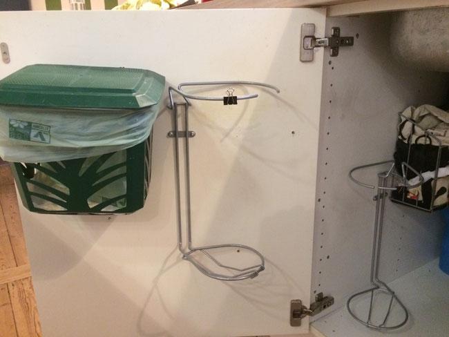 Affaldssorteringssystem af affaldsstativer/ affaldsstativ til sortering i et køkken 10