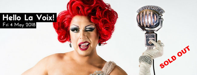 La Voix is the UK's most dazzling diva. Semi-finalist of Britain's Got Talent and star of the Ab Fab movie, winner of Drag Idol