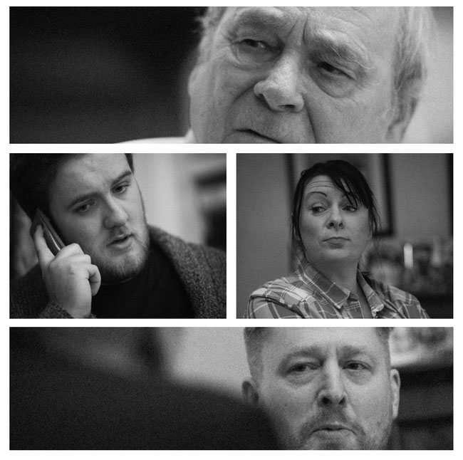 the cast of Godfrey's Last Summer - 24th March at the Millgate in Delph. Raising money for Bloodwise cancer charity