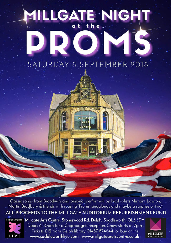 Millgate Proms raising funds for the auditorium appeal though song and laughter. 8th September 2018