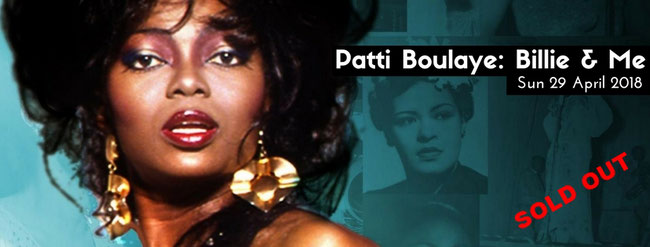 Patti Boulaye OBE showcases her one-woman jazz show featuring the music of Billie Holiday
