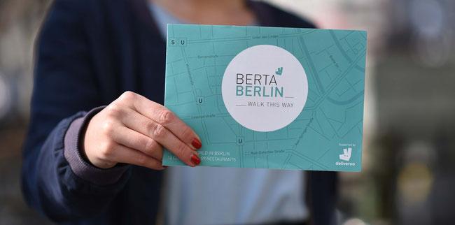 Deliveroo x BertaBerlin map in Berlin