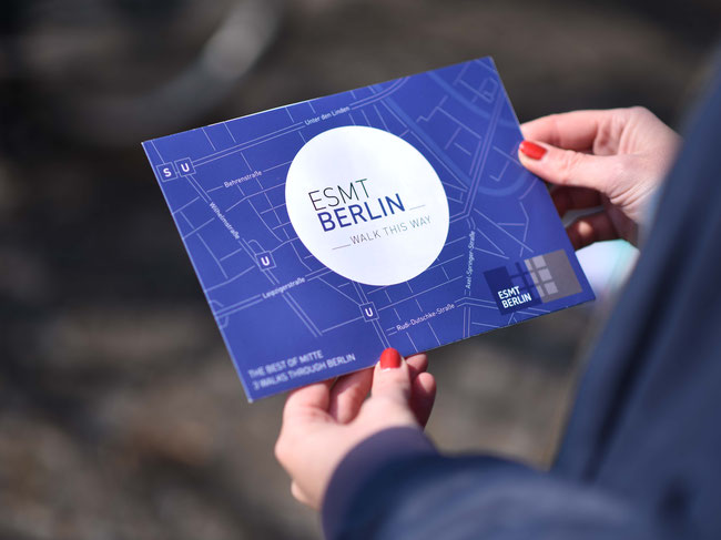Customized map for ESMT Berlin
