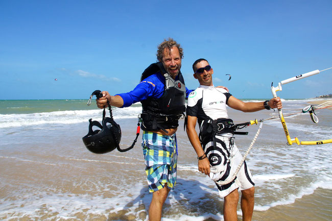 Cumbuco Kiteschool at the Cumbuco Guesthouse !  Lessons and Equipment Rental !