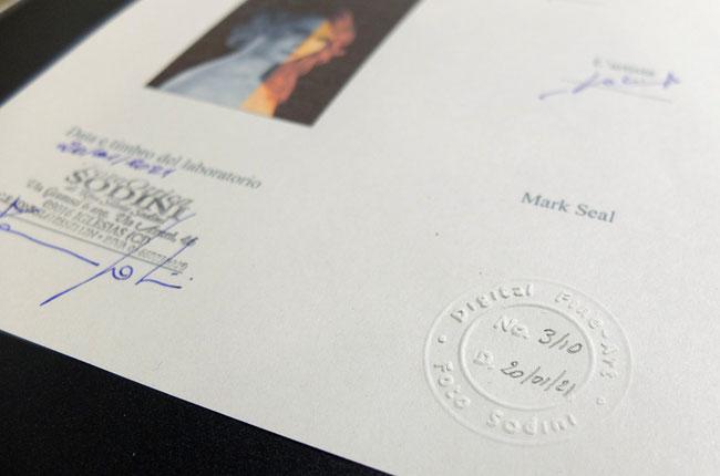 le uniche stampe Fine-Art certificate in Sardegna
