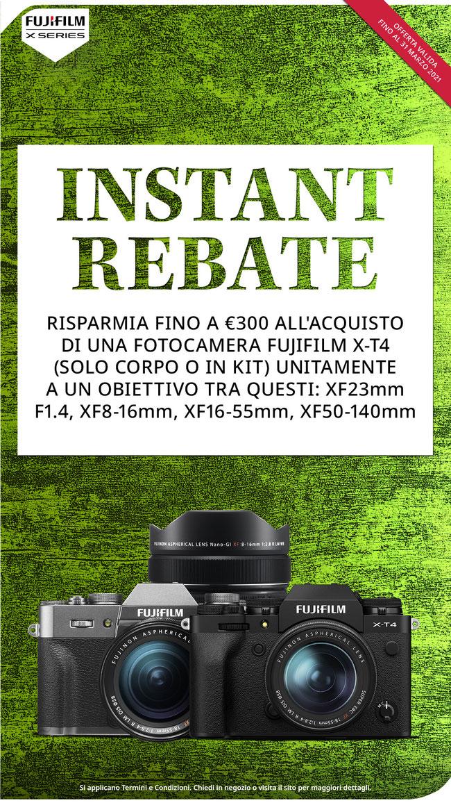 sconto immediato alla cassa, Fujifilm fino € 600