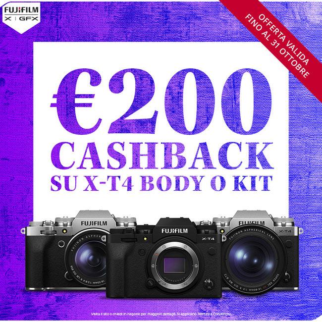 nuovo cashback Fujifilm X-T4 sardegna
