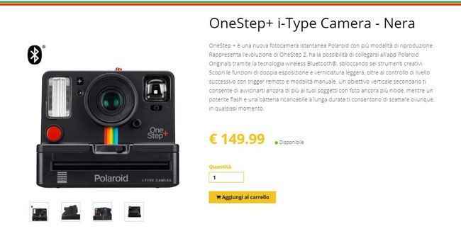 OneStep+ i-Type Camera - Nera