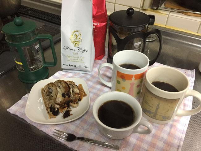 美味しそうなコーヒーがちゃんと3杯分できました。