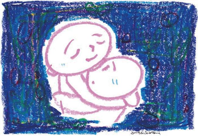 抱擁シーン
