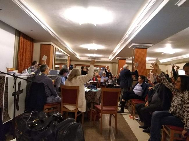 Foto di repertorio: AG 2018, durante le votazioni. ( Foto Silvio Consoli)