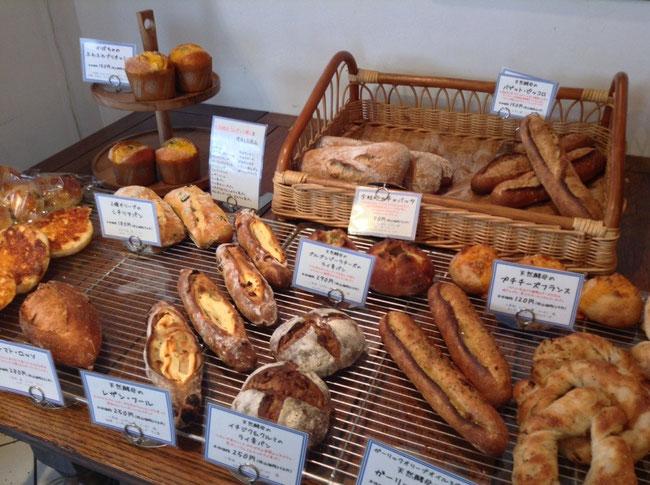 美味しそうな焼きたてパンがいっぱい