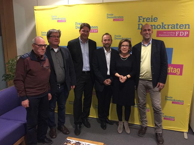 v.l.n.r.: Willi Hemb - Christian Ritzmann - Christopher Sitte - Frank Klein - Monika Becker MdL - Alexander Buda