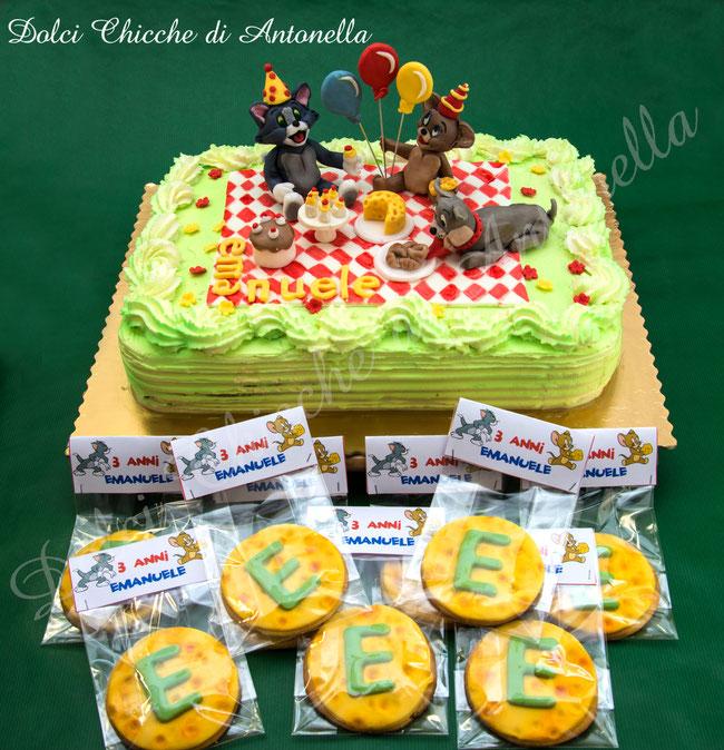tom&jerry-torte-dolci-la spezia-bimbi-compleanno-liguria-biscotti decorati-feste-party