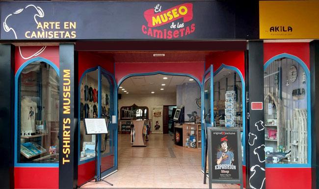 El Museo de las Camisetas tienda física.