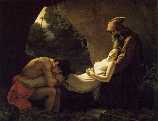 Atala au tombeau, 1808, Girodet de Roussy - Trioson, Louvre.