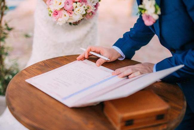 Namenswahl beim Heiraten im Standesamt