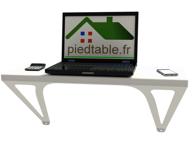 Table console murale Design pouvant faire office de bureau d'appoint.