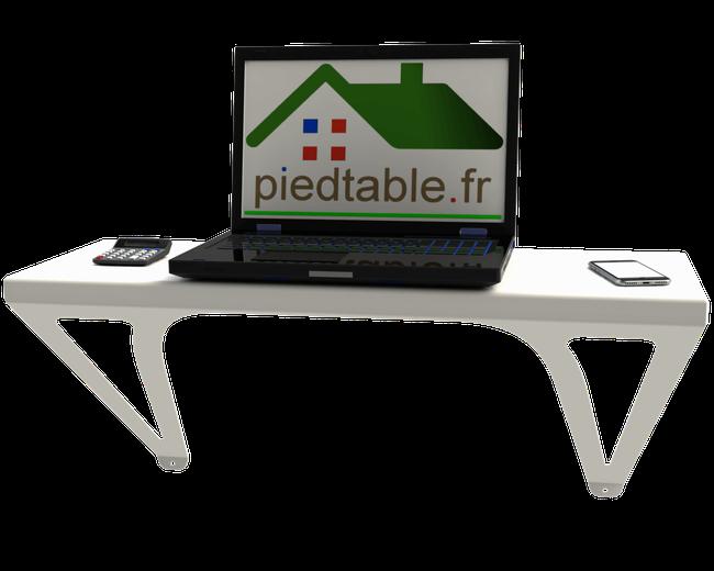 Table console murale Design pouvant faire office de bureau d'appoint.