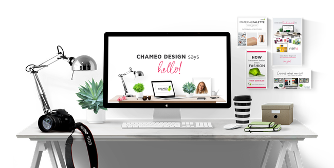 Chameo Design says hello to our free resources. You are welcome to download our branding checklist, free fonts,  a list of 16 design trends, a list of great Pinterest groups to join and many things more!