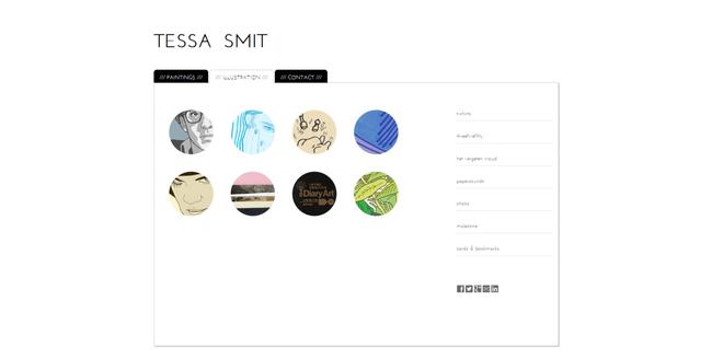 Kunstwebsite van illustratrice Tessa Smit